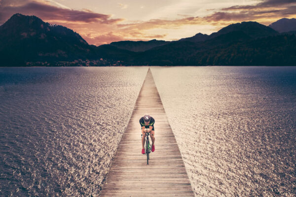 photo campaign with triathlet Bernd Lanzer at Fuschl am See in cooperation with Philipp Schulz
