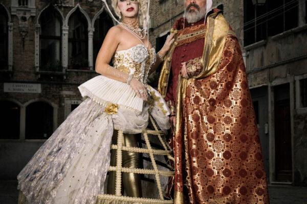 a photo and video project in cooperation with Sony, costume designer Alessio Benetti, Ca´Sagredo Hotel in Venice.