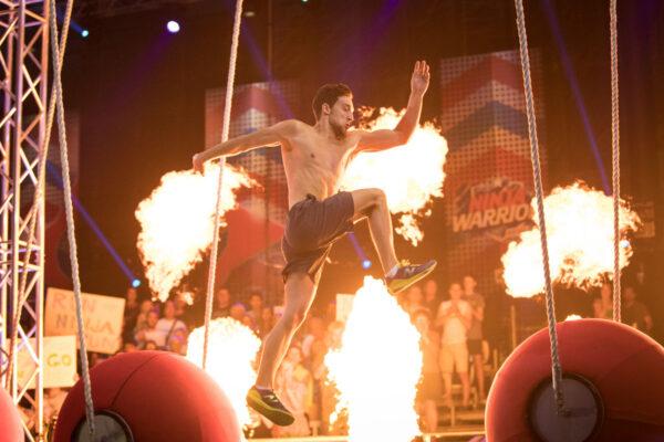 Ninja Warrios Show potographed for the TV vhannel Puls4.