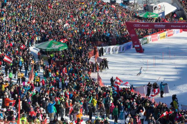 Hahnenkamm Skirennen in Kitzbühel
