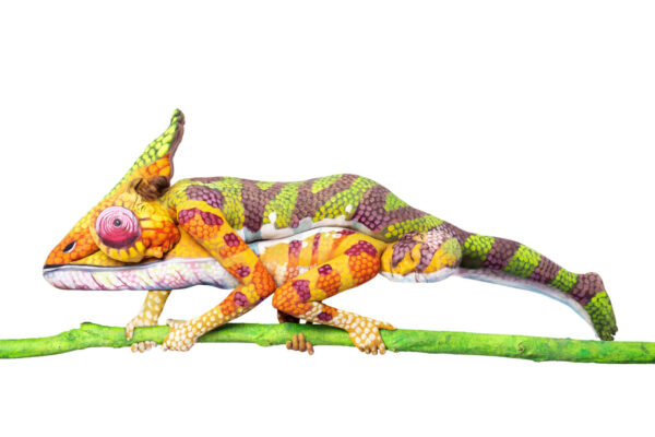 Tyromotion Bodypaint Animals commercial campaign in cooperation with fineart bodypainter Johannes Stötter and media production company boxquadrat